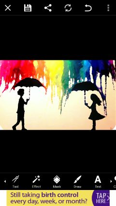 colorful cute love people pencil art