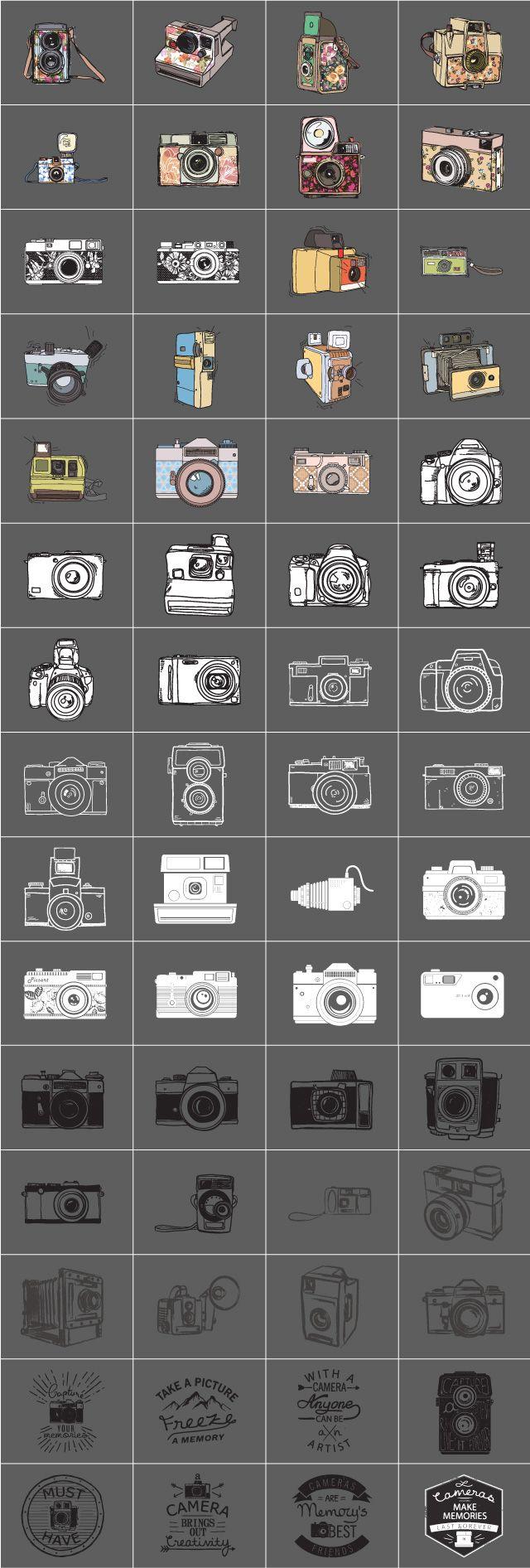 camera clipart package, picsart
