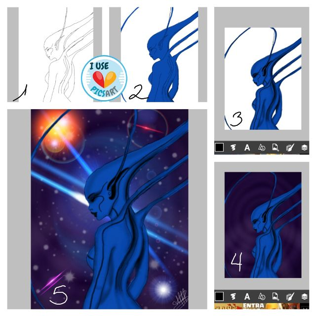 step by step tutorial on how to draw an alien