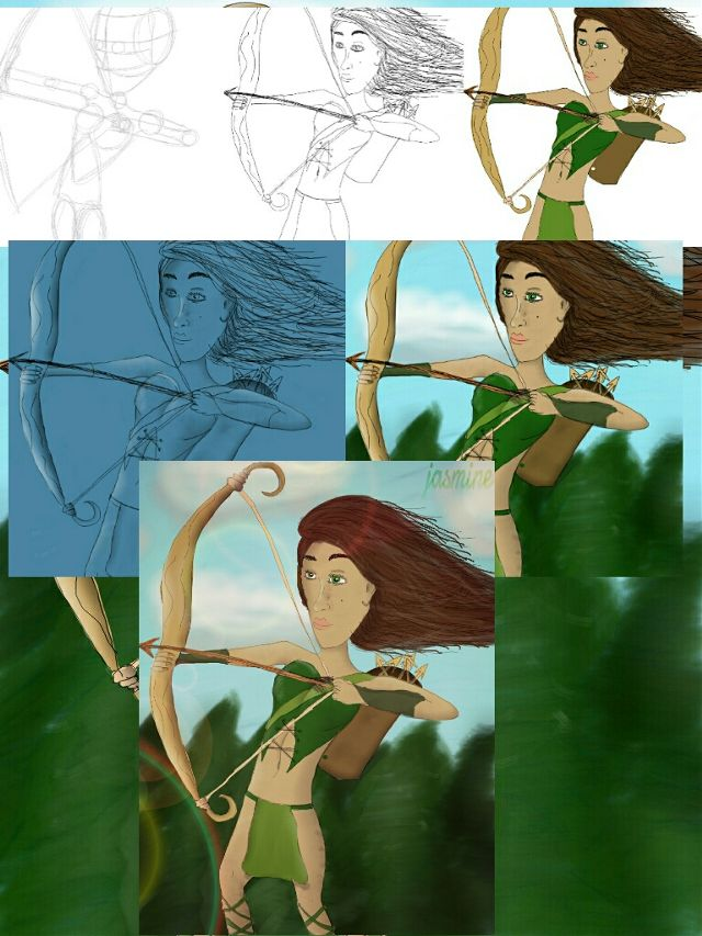 how to draw an amazon warrior step by step