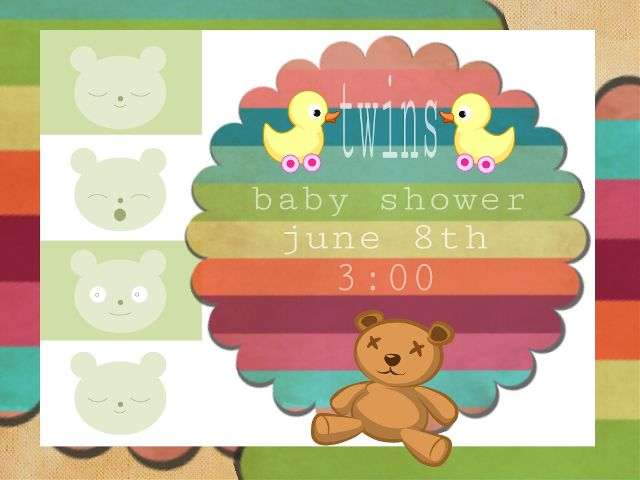 baby shower invitation card design contest