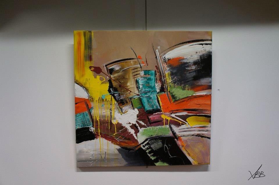 In my studio#90x90#Acrylique#for futur expo#Lyon#2014