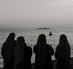 black & white photography summer people beach