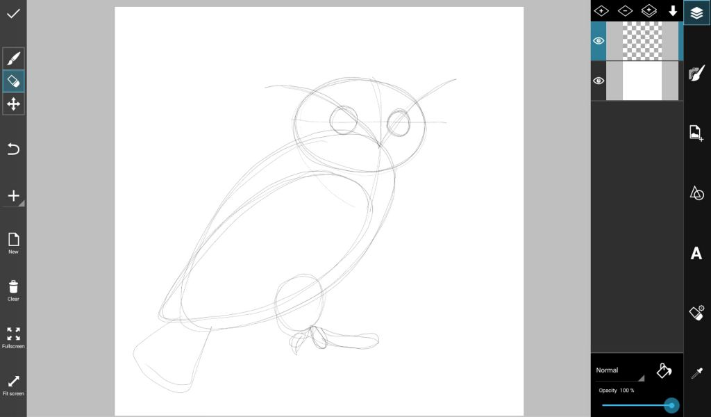 how to draw a magnificent owl with picsart create discover