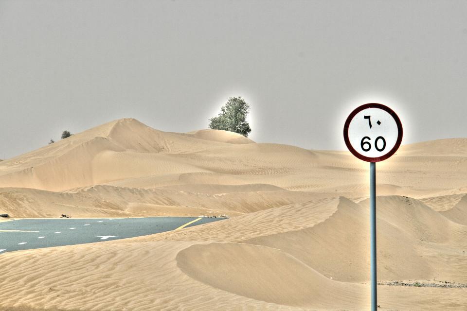 desert always wins back.reclaimed territory.dubai desert.