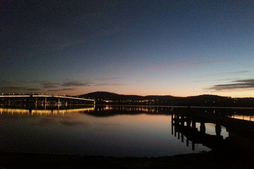 #hobart #derwentriver #tasmanbridge #tasmania #australia #sunrise