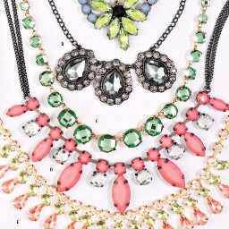 fashion accessoryaddict neclaces gems colorful