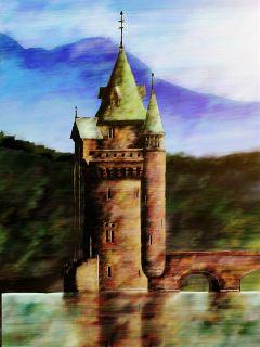 castle art artwork