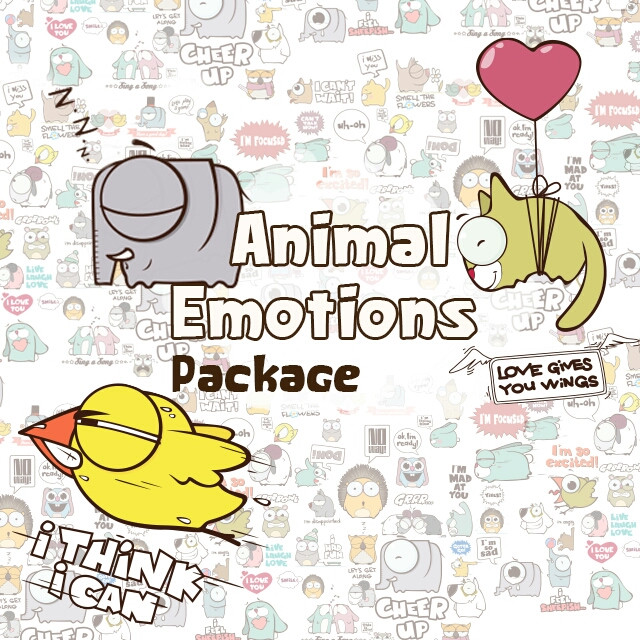 'Animal Emotions' package is FREE now in the PicsArt Shop!