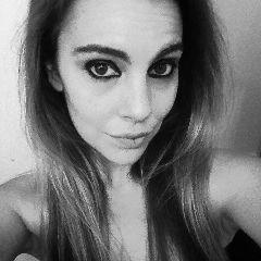 cute blackandwhite selfie