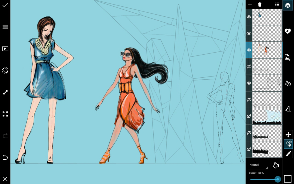 how to draw a fashion sketch step by step