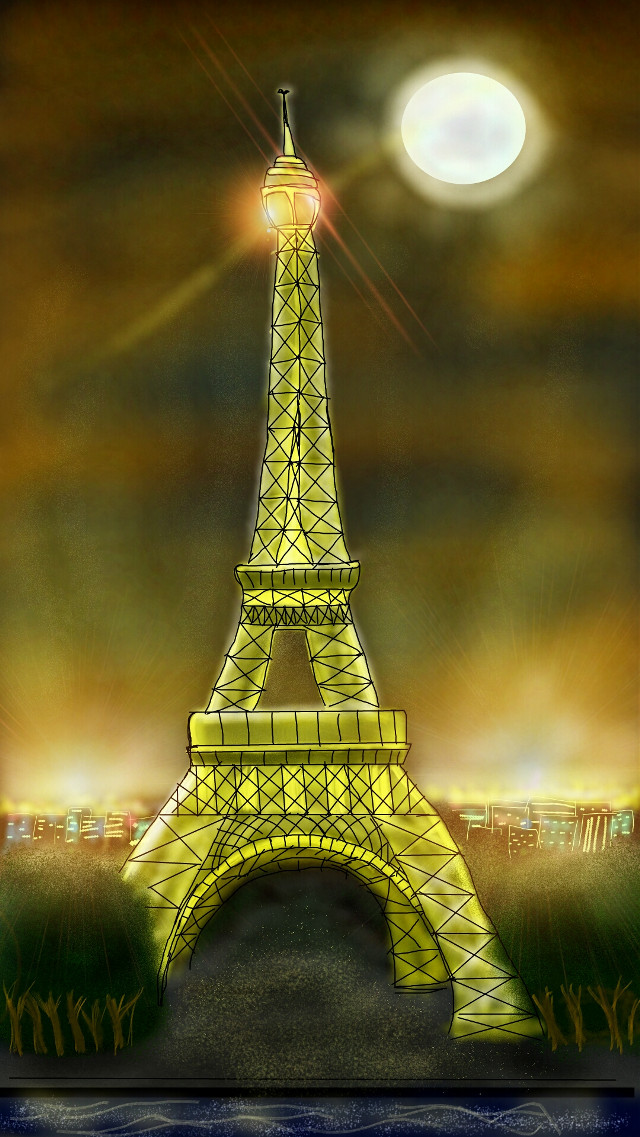 My entry for #dccityscape contest! Paris,  France #drawing #pencilart #travel