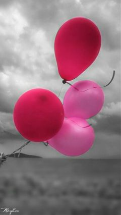 Photography Color Splash Black White Balloon Freetoed