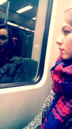 winter travel kiss