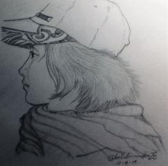 sketch drawing pencilart portrait