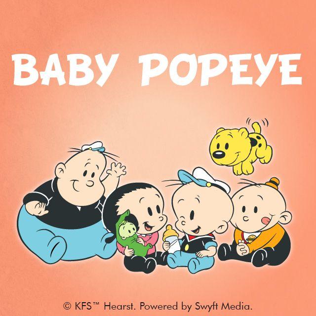 Baby Popeye clipart