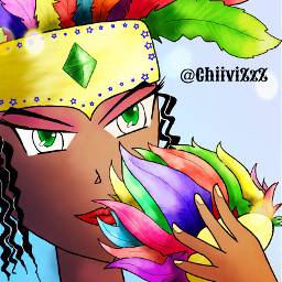 dcfeather drawing colorful art