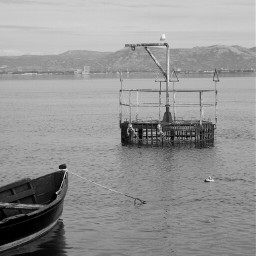 sea landscape bnw